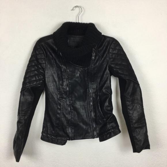 Blank NYC Jackets & Blazers - BlankNYC Black Vegan Leather Moto Jacket